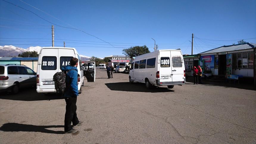 Busbahnhof in Kirgisistan