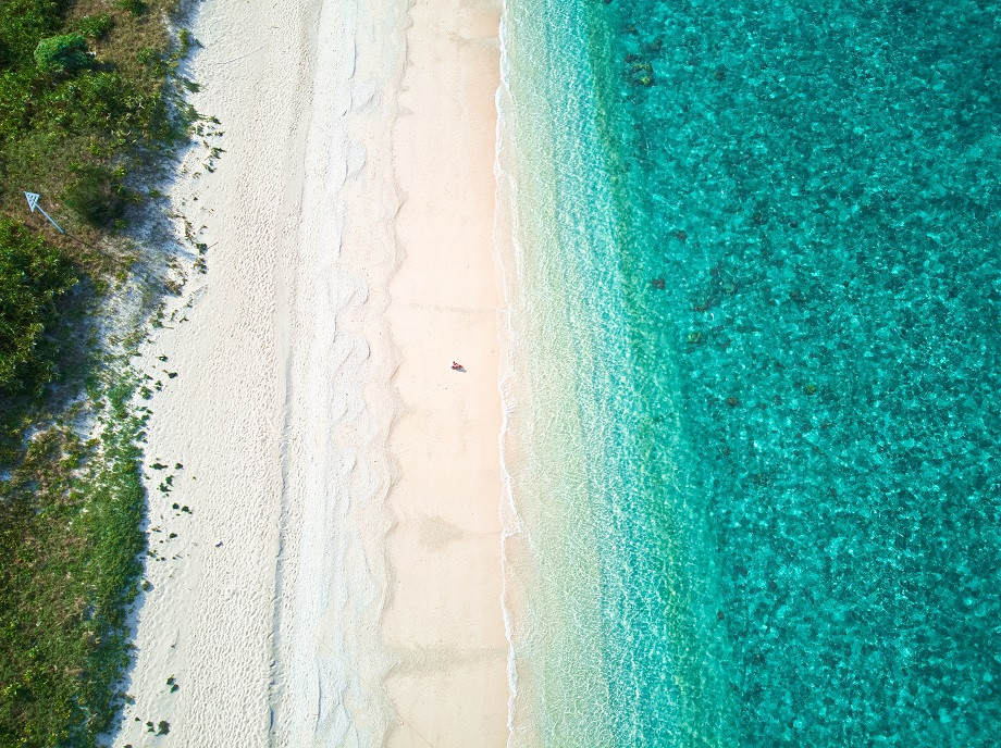 Strand auf Aka Island in Japan