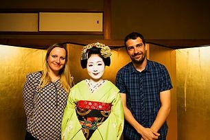 Kati und Hermenn mit Maiko Tomitsuyu in