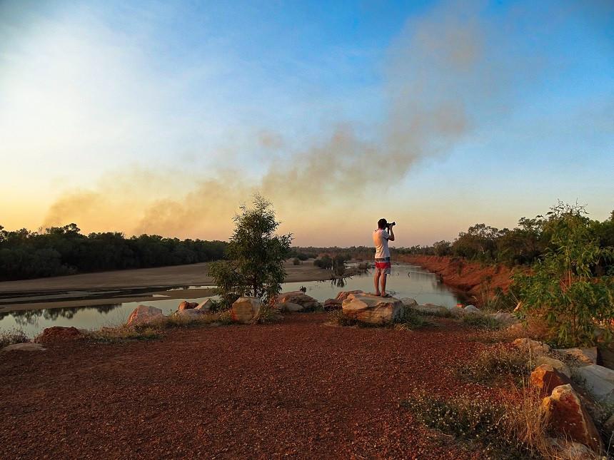 Buschfeuer am Horizont - Fitzroy Crossing