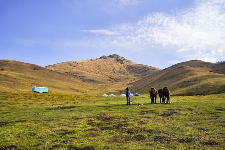 Einsame Natur in Kirgisistan