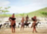 Himba-mit-Ziegen