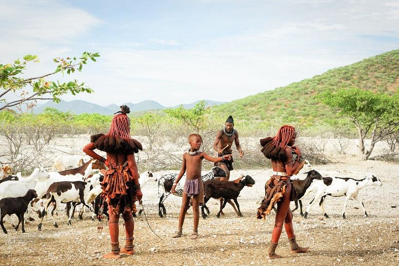 Himba Familie - Namibia