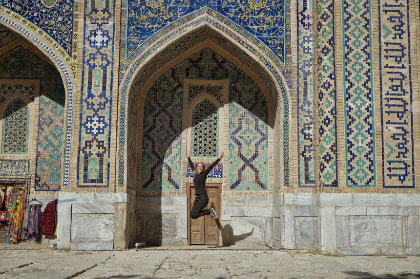 Sightseeing-Freude in Samarkand