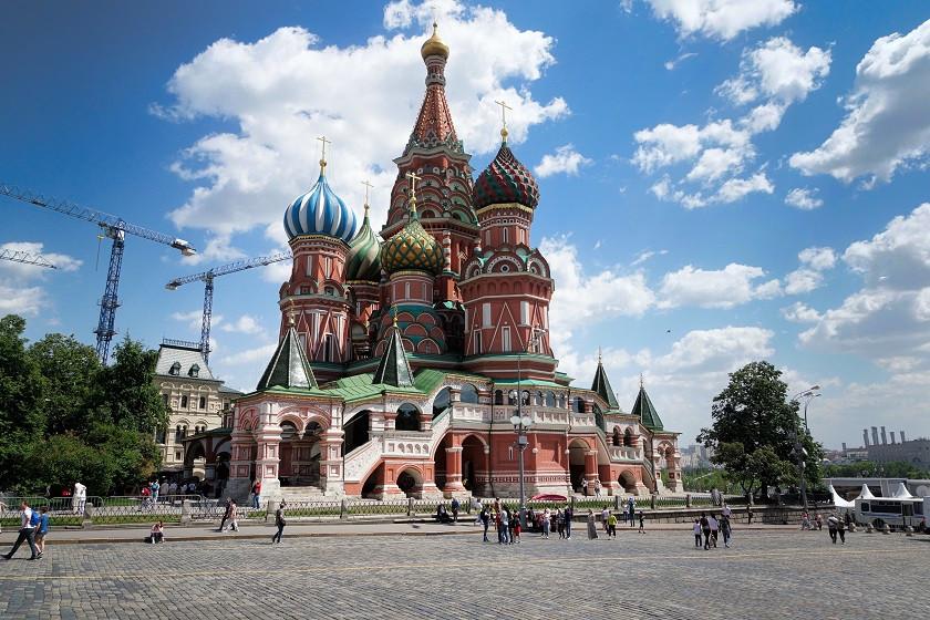 Moskau - Basilius-Kathedrale - Roter Platz