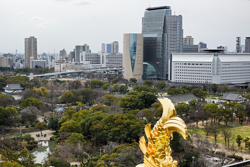 Blick ueber Osaka
