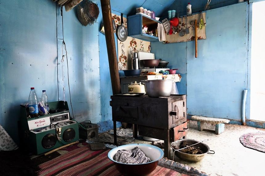 Feuerstelle mit Ofen zum kochen