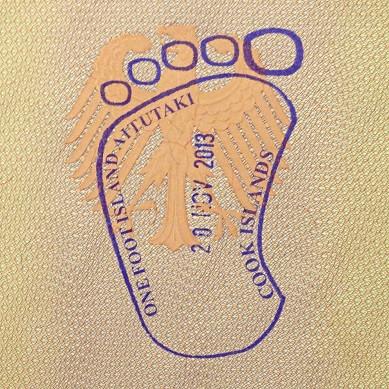 Passstempel One Foot Island