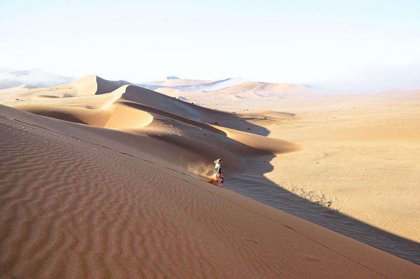 Wir hatten eine Menge Spaß auf Namibias Sanddünen