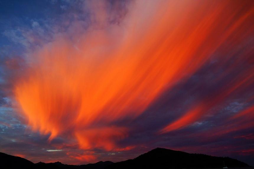 Abgefahrene Wolkenformation und Farben - Whitsundays