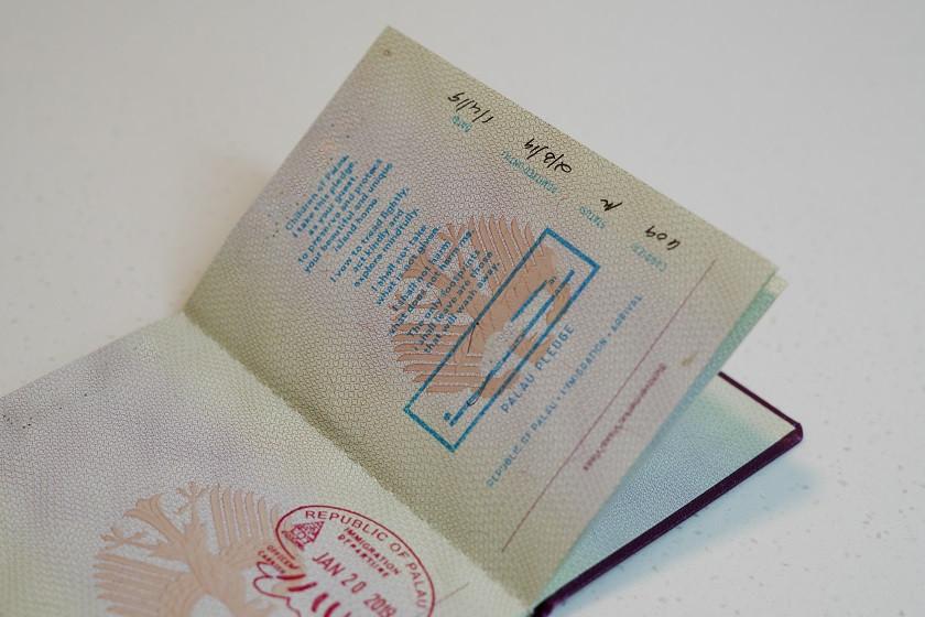 Palau Pledge Passstempel