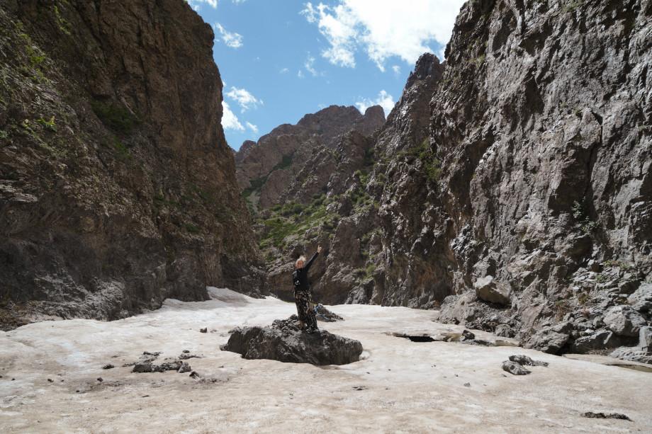 Yolin Am Schlucht in der Mongolei