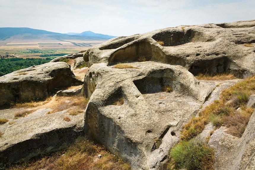 Ausgewaschene Felsen in Uplistsikhe
