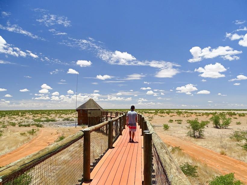 Campeigenes Wasserloch des Olifantrus Camps - Namibia