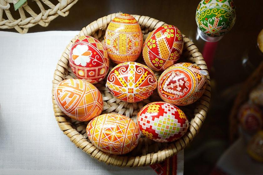 Handbemalte Eier im Museum des Benediktiner Klosters - Lviv