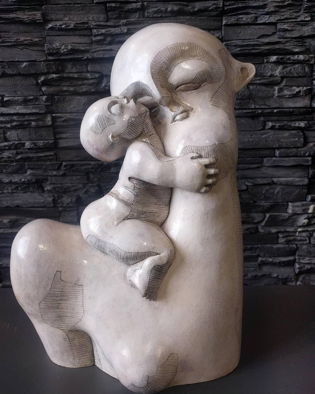 VERKOCHT. Moeder en kind