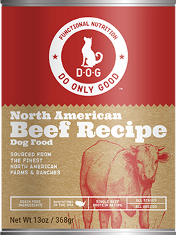 D.O.G. North American Beef Recipe Canned Dog Food