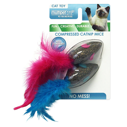 Multipet Catnip Mice Cat Toy