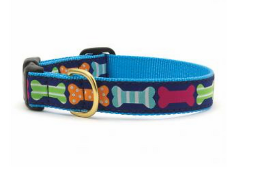 Up Country Multicolor Bone Dog Collar