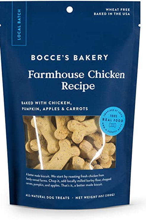 Bocce's Farmhouse Chicken Recipe Dog Treats