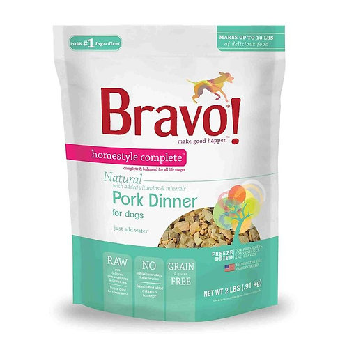 Bravo Raw Pork Dinner for Dogs