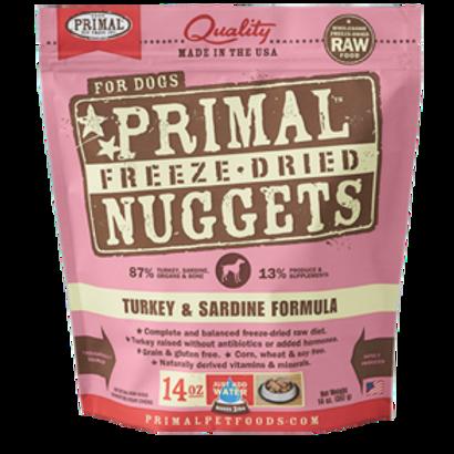Primal Turkey & Sardine Formula Freeze-Dried Raw Dog Food