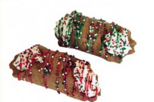 Preppy Puppy Christmas Cannoli
