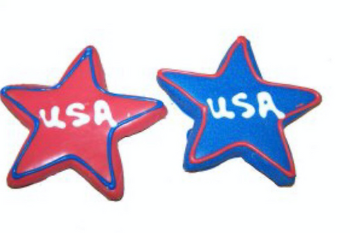 Preppy Puppy USA Star Cookie