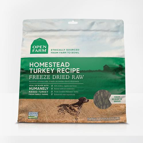 Open Farm Homestead Turkey Recipe Freeze Dried Raw Dog Food