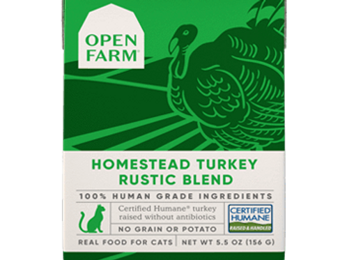 Open Farm Homestead Turkey Rustic Blend Cat Food