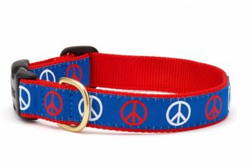 Up Country Peace Sign Dog Collar