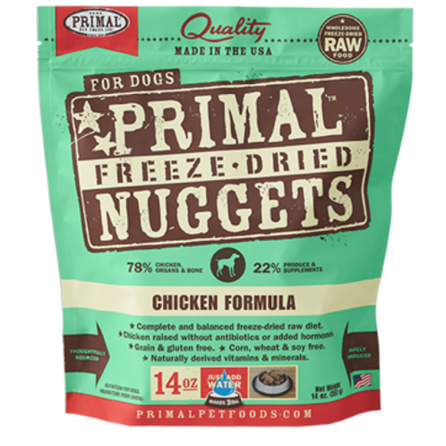 Primal Chicken Formula Freeze-Dried Raw Dog Food