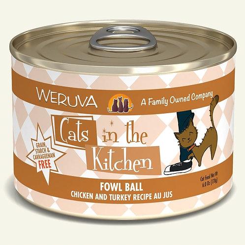 Weruva Fowl Ball - Chicken & Turkey Cat Food