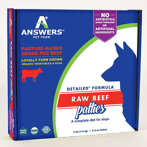 Answers Raw Beef Patties Dog Food