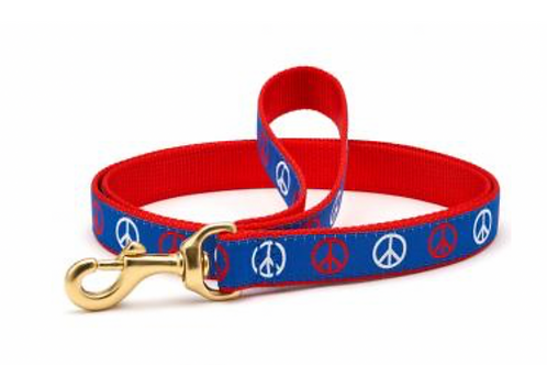 Up Country Peace Signs/Red 6' Leash