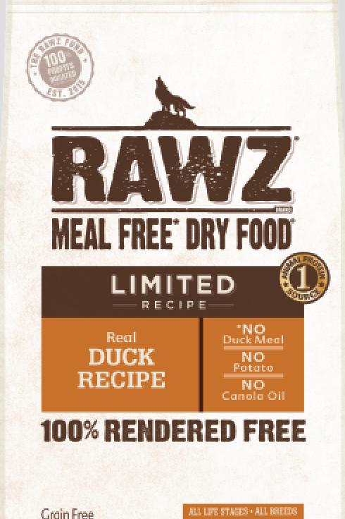 Rawz Duck Limited Recipe Dog Food