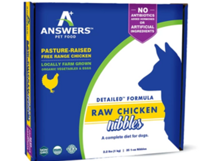 Answers Raw Chicken Nibbles Dog Food