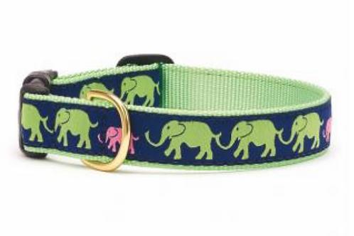 Up Country Elephant Print Dog Collar
