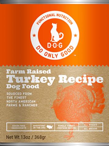 D.O.G. Farm Raised Turkey Recipe Canned Dog Food