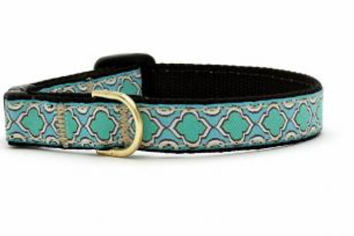 Up Country Blue Green Pattern Cat Collar