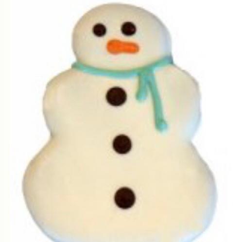 Preppy Puppy Frost Snowman Cookie