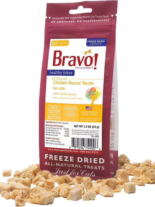 Bravo Freeze-Dried Chicken Treats for Cats