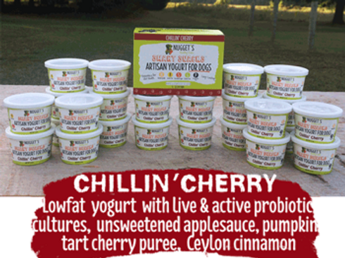 Nugget's Chillin' Cherry Frozen Yogurt for Dogs