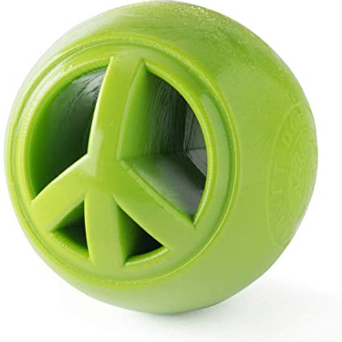 Planet Dog Orbee Nooks Peace Sign Interactive Durable Dog Puzzle Toy