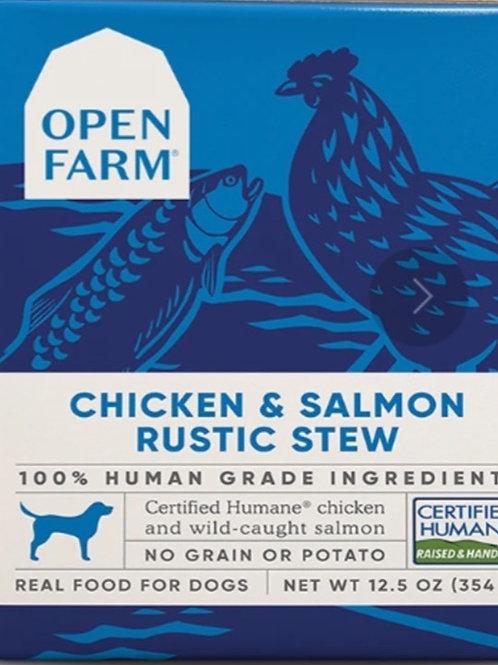 Open Farm Chicken & Salmon Rustic Stew Dog Food