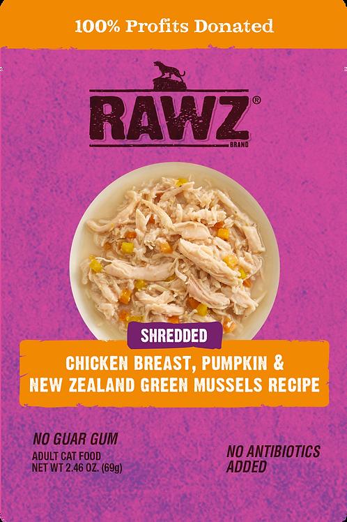 Rawz Shredded Chicken Breast, Pumpkin & Mussels Cat Food