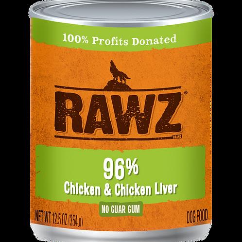 Rawz 96% Chicken & Chicken Liver Dog Food