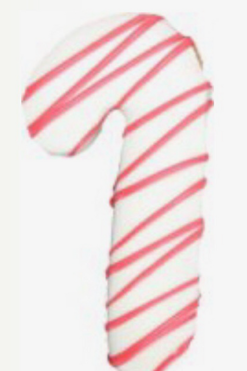 Preppy Puppy Candy Cane Cookie