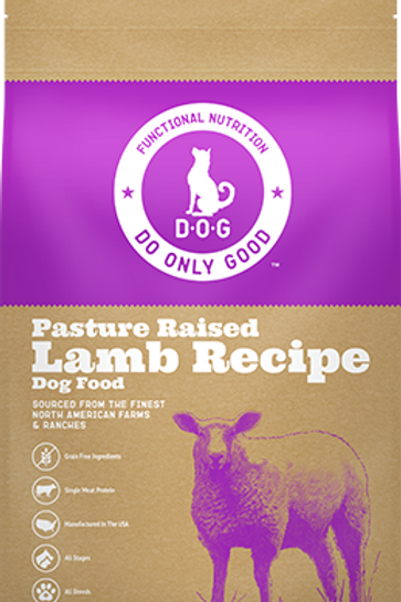 D.O.G. Pasture Raised Lamb Recipe Dog Food