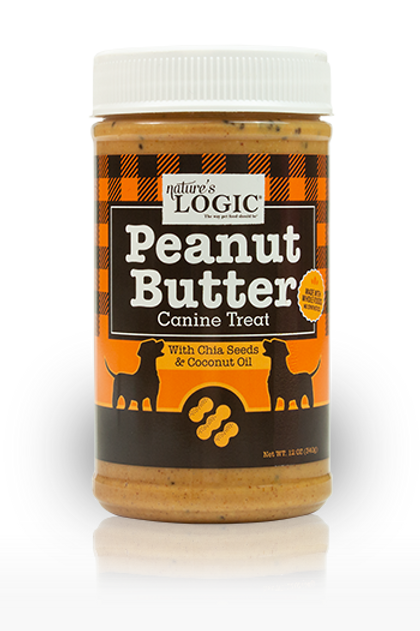 Nature's Logic Peanut Butter with Chia Seeds & Coconut Oil for Dogs